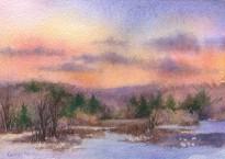 """""""Sunset Memories"""" Watercolor"""