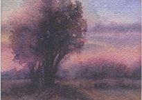 """Sundown"" (Watercolor, Image Size 4"" x 3.5"")"