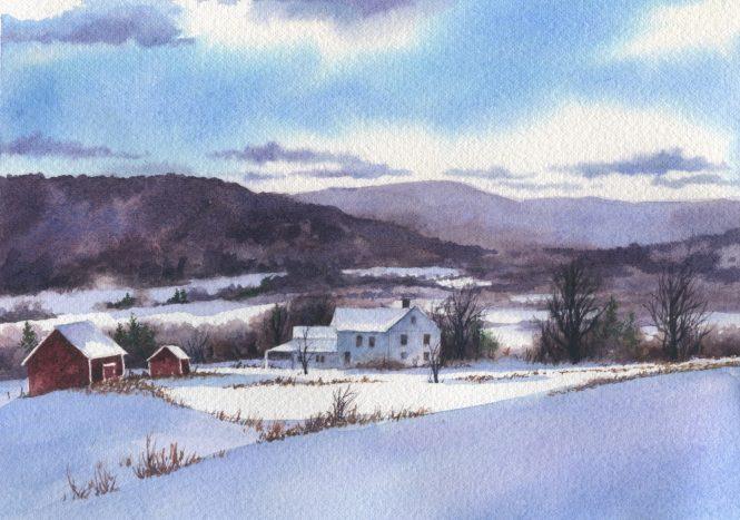 Watercolor on Arches 140 lb. Cold Press