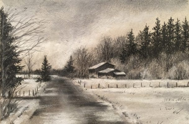Charcoal on Tinted Paper